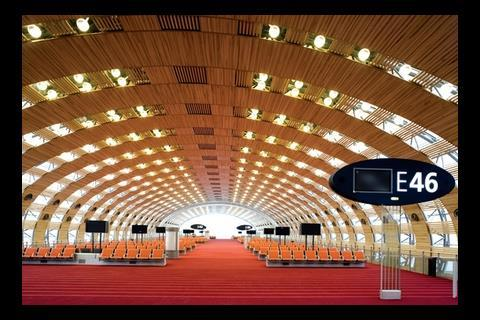 The chic new form of Charles de Gaulle's Terminal 2E.